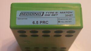 36487 REDDING TYPE-S MATCH BUSHING FULL DIE SET - 6.5 PRC - BRAND NEW