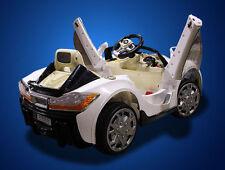 New 12V Battery MASERATI Style Kids Ride On Toy Luxury Sports Car Remote White