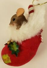 Charming Tails - 2005 Mouse Christmas Stocking - Ornament