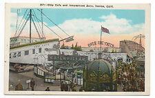 1920s Postcard of the Ship Cafe & Amusement Zone Venice Beach CA
