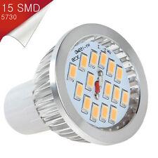 Bombilla Dicroico LED GU10 15 SMD 5730 Blanco Cálido 110~250V AC - Consumo 7W