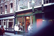 Vintage Kodachrome Slide Negative People Outside Christmas Angels Shop and Cafe
