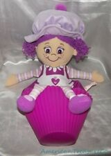"2011 JAY AT PLAY Big 22"" LITTLE MISS PLUM MUFFIN Purple Pop N Flip Soft Rag Doll"
