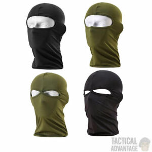 Tactical 1 2 Hole Lightweight Balaclava Mask Airsoft Paintball Army Green Black