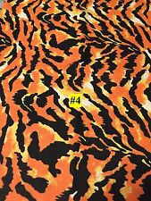 Wild Animal Tiger type Print 100% Cotton Fabric by the yard #4 - appr 36 x 43/44