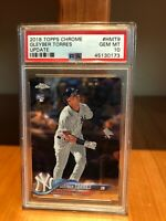2018 Topps Chrome Gleyber Torres Update Rookie PSA Gem Mint 10 #HMT9