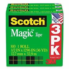 "Scotch Magic Invisible Tape - 0.50"" Width X 36 Yd Length - 1"" Core -"