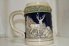 German Gerz Porcelain Beer Stein - Deer Hunter with Wife - Made in West Germany