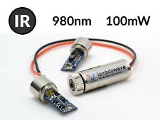 980nm 100mW Infrarot-IR-Laser-Punkt-Modul DC5V mit 5V Netzteil