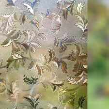 Frosted Window Film Non-Adhesive Decorative Leaf Static Cling Privacy for Glass