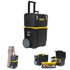 NEW Stanley 3-in-1 Rolling Tool Box Organizer Portable Workshop Cart Storage Bin