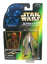 STAR WARS POWER OF THE FORCE HAN SOLO IN ENDOR GEAR WITH BLASTER PISTOL KENNER