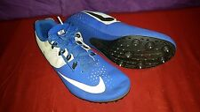 Nike Rival S 806554 Track Field Running Men's Blue & White Cleats size Us 10