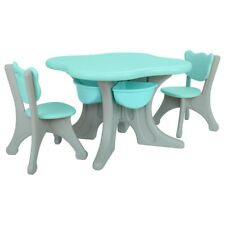 New ListingKids Table And 2 Chair Set Children Activity Desk With Storage Bins For Read