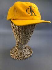 VTG Calvin Klein Jeans Snapback Yellow Wool Hat Cap 90s Unisex Hat