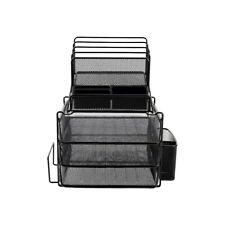Staples All-in-One Wire Mesh Desk Organizer Black (29491) 2030247