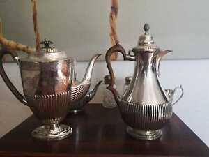 Englisches Teeservice, Silber/versilbert, Art Deco, Mappin & Webb´s