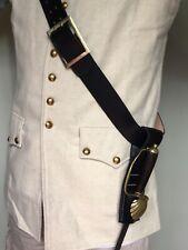 Koppel Schultergurt mit Fork-Schließe und Lederfrosch Bandelier Pirat LARP