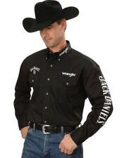 NWT Wrangler Jack Daniels Black Western Shirt Cowboy Rodeo Men's Embroidered XLT