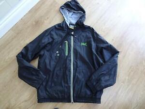 EVERLAST mens black hooded lightweight jacket coat SIZE XL EXCELLENT COND