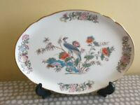 "Wedgwood Bone China ""Kutani Crane"" Oval Scalloped Tray"