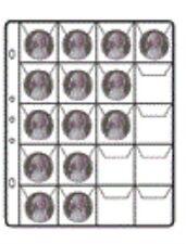 *Buste perforate SVAR da 20 tasche ciascuna, per raccoglitori monete,conf.10 pz.