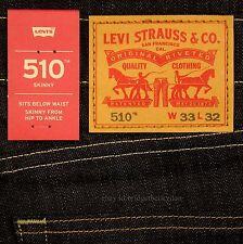 Levis 510 Jeans Skinny Fit Mens New Size 33 x 32 Stretch RIGID DRAGON Levi's NWT