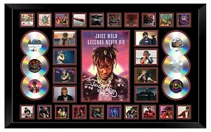 JUICE WRLD LEGENDS NEVER DIE POSTER SIGNED LIMITED EDITION FRAMED MEMORABILIA