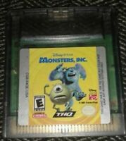 MONSTERS, INC. - NINTENDO GAME BOY COLOR - FREE S/H - (B1)