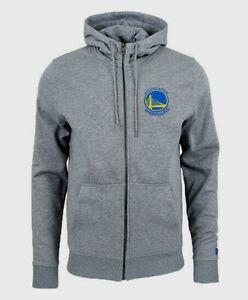 NEW Golden State Warriors NBA New Era Team Apparel Full Zip Hoodie Grey Hoody