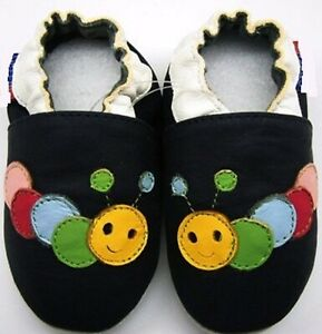 soft sole leather baby shoes toddlers sport caterpillar navy 24-36m minishoezoo