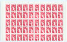 FRANCE  1/2 FEUILLE N°1972c SABINE 1F.NEUVE xx.TRES BELLE.Cote: 250€. SUPER PRIX