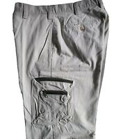 TIMBERLAND Stratham Twill Cargo Mens Shorts with khaki zippers - Made in USA
