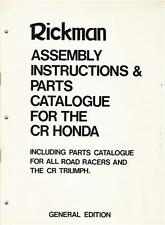 1974 Rickman CR Honda Parts & Assembly Manual + Norton & Triumph Parts Manual