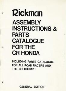 1974 Rickman CR Honda Parts & Assembly Manual + Norton & Triumph Parts Manual