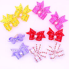 Cute Dog Hair Bows Pearl&Flower Patterns Pet Dog Grooming Accessories