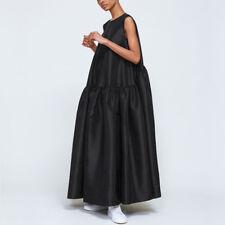 Cecilie Bahnsen Anna Karin Faille Taffeta Dress Gown in Black UK 10 / US 6