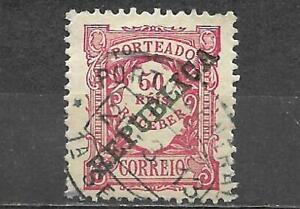 Portugal 1910 Postage Due Stamp Scott #J19 50R Used