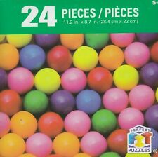 NEW Perfect FIT Puzzles 24 Piece Jigsaw Puzzle ~ Gumballs