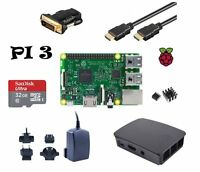 Raspberry Pi 3 Model B Set mit 32GB - Gehäuse - 2,5A Netzteil - HDMI uvm 7-teiig