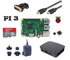 Raspberry Pi 3 MODEL SET B con chassis 32gb-Alimentatore 2,5a - HDMI e molto altro 7-teiig