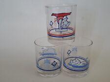 3 RARE Vintage 1985 SEA GAMES BANGKOK THAILAND GLASSES GYMNASTICS SWIMMING  CAT