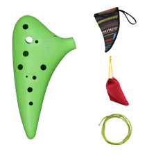 12 Hole Alto C Ocarina Vessel Flute ABS Material Sweet Potato Shape with 2 H0N7