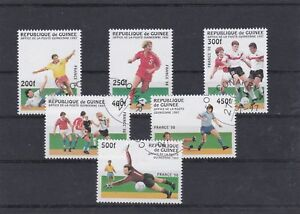 GUINEE 1997 COUPE DU MONDE FOOTBALL FRANCE 6 TIMBRES OBLITERE YT 1105 A 1110