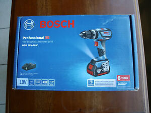 Bosch 18v Brushless Hammer Drill Kit GSB18V-60C + 5Ah Battery + Battery Charger