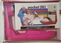 Vintage Toy Pocket Ski Shoe Boots - Set of 2 Skis Adjustable Size 3-9 SUPER RARE