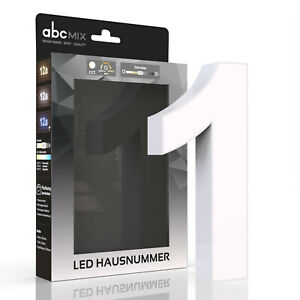 LED Hausnummer 1  CCT 12V  2700K 4000K 6500K  SET