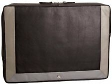 Visconti RB69Grey/Black Leather Laptop Soft Computer 13 inch Mac Sleeve Case
