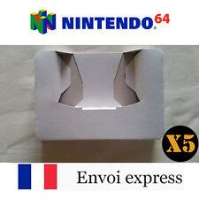 5X Cale neuve pour boite de jeu Nintendo 64 N64 - insert inner tray inlay