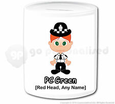 Personalised Gift Police Money Box Cop PC Policewoman Officer Hero Present #10
